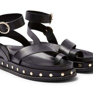 Topshop Fawn Platform Studded Footbed Sandals